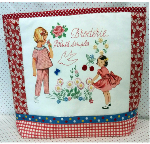Broderie points simples