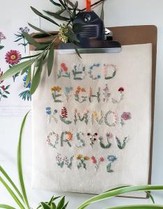 Abécédaire en fleurs kit